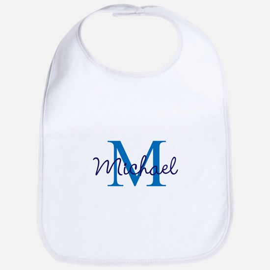 Personalize Initials and Name Cotton Baby Bib