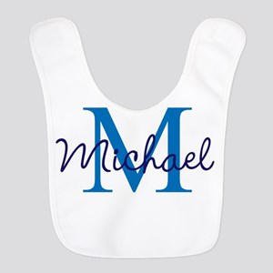 Personalize Initials and Name Polyester Baby Bib