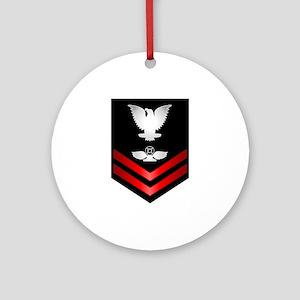 Navy PO2 Air Traffic Control Ornament (Round)