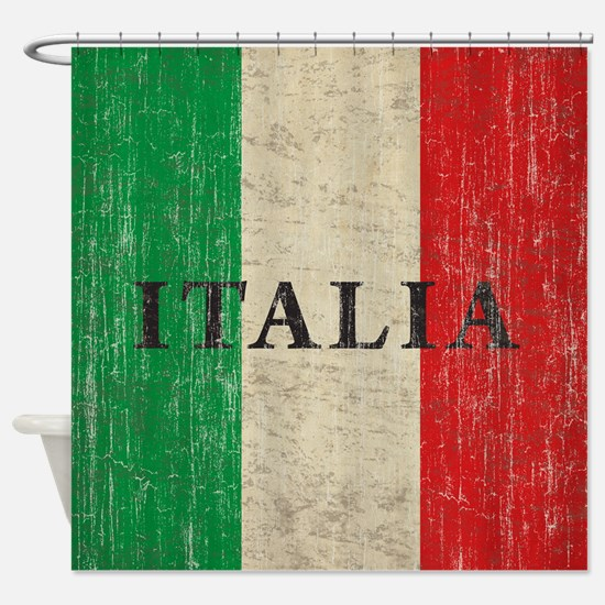 Vintage Italia Shower Curtain