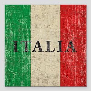 """Vintage Italia Square Car Magnet 3"""" x 3"""""""