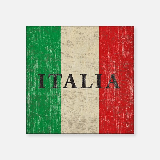 "Vintage Italia Square Sticker 3"" x 3"""