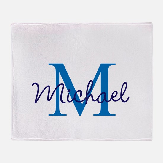 Personalize Initials and Name Throw Blanket