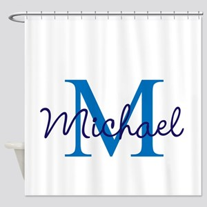 Personalize Initials and Name Shower Curtain