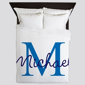 Personalize Initials and Name Queen Duvet