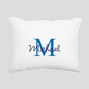 Personalize Initials and Rectangular Canvas Pillow