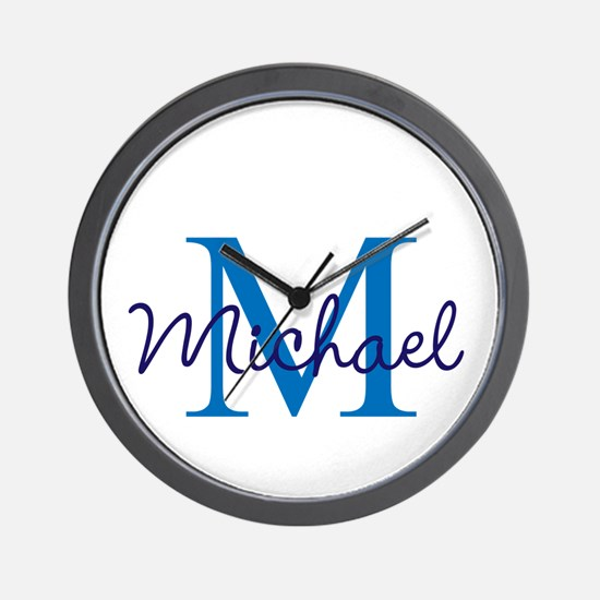 Personalize Initials and Name Wall Clock