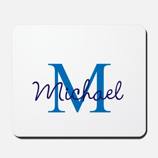 Personalize Initials and Name Mousepad