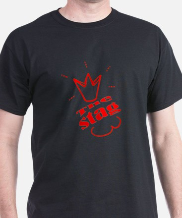 Bachelore party the stag red , in Red T-Shirt