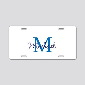 Personalize Initials and Na Aluminum License Plate