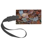 Frosty leaves large luggage tag