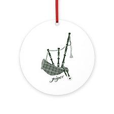 PIPER (bagpipes design!) Ornament (Round)