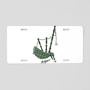PIPER (bagpipes design!) Aluminum License Plate