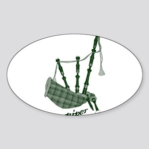 PIPER (bagpipes design!) Sticker (Oval)