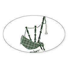 PIPER (bagpipes design!) Sticker (Oval)