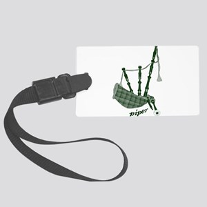PIPER (bagpipes design!) Large Luggage Tag