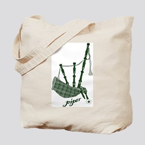 PIPER (bagpipes design!) Tote Bag