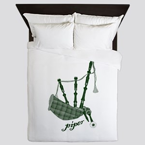 PIPER (bagpipes design!) Queen Duvet