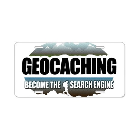 GEOCACHING Aluminum License Plate