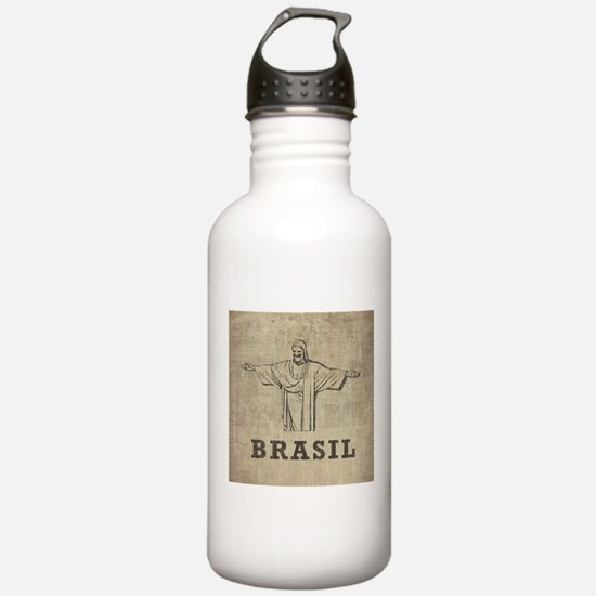 Vintage Christ The Redeemer Water Bottle
