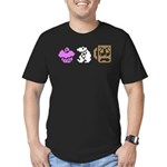 Monty Mole Coffee Men's Fitted T-Shirt (dark)