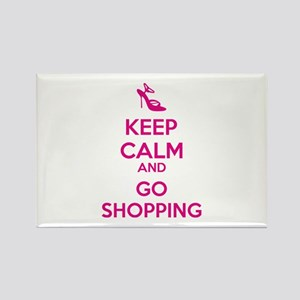 Keep calm and go shopping Rectangle Magnet