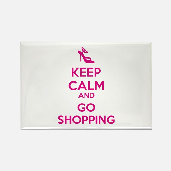Keep calm and go shopping Rectangle Magnet (10 pac