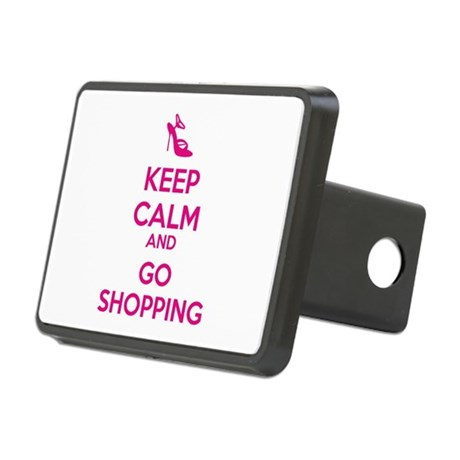 Keep calm and go shopping Rectangular Hitch Cover