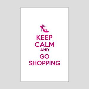 Keep calm and go shopping Mini Poster Print