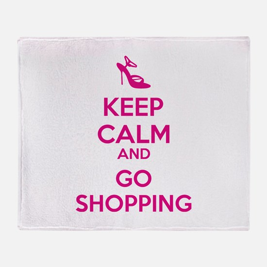 Keep calm and go shopping Throw Blanket