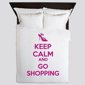 Keep calm and go shopping Queen Duvet