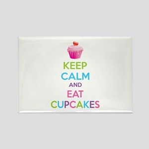 Keep calm and eat cupcakes Rectangle Magnet