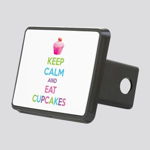 Keep calm and eat cupcakes Rectangular Hitch Cover