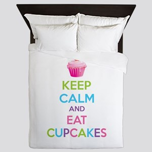 Keep calm and eat cupcakes Queen Duvet