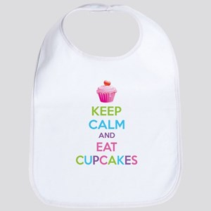 Keep calm and eat cupcakes Bib