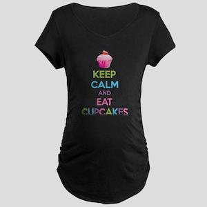 Keep calm and eat cupcakes Maternity Dark T-Shirt