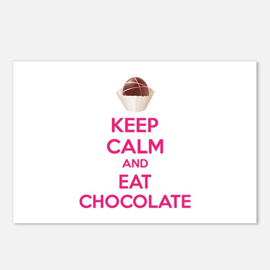 Keep calm and eat chocolate Postcards (Package of