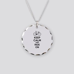 Keep calm and ride on Necklace Circle Charm
