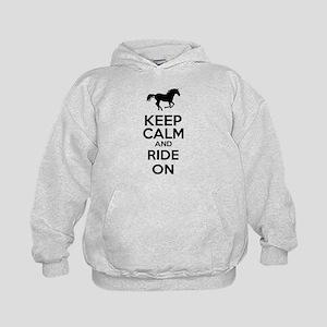 Keep calm and ride on Kids Hoodie