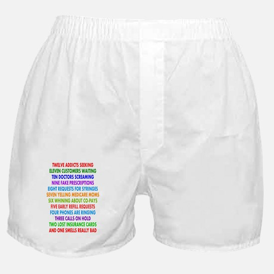 PHARMACIST 12 DAYS OF CHRISTMAS 2.PNG Boxer Shorts