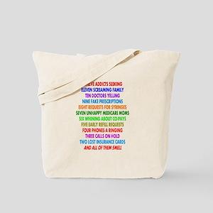Pharmacist 12 days of Christmas Tote Bag