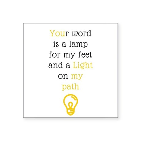 Your Word Is A Lamp Sticker