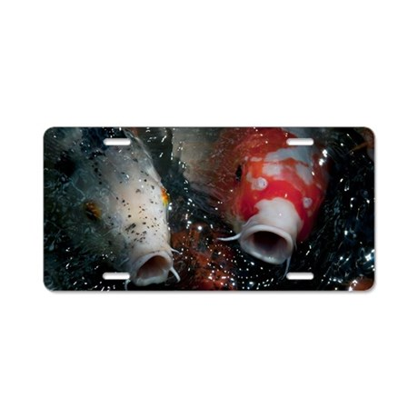 Hungry Koi Aluminum License Plate