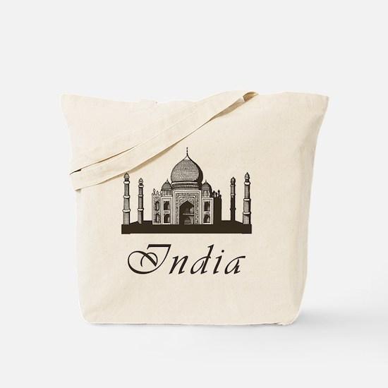 Retro India Taj Mahal Tote Bag