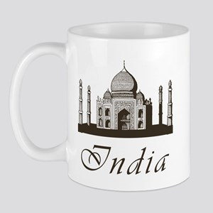 Retro India Taj Mahal Mug