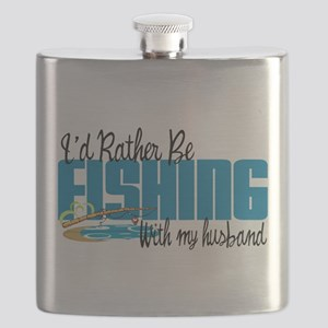 Rather Be Fishing With My Husband Flask