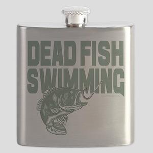 Dead Fish Swimming Flask