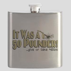 50 Pounder Fish Flask