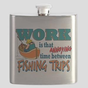 Work vs Fishing Trips Flask