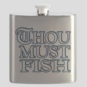 Thou Must Fish Flask
